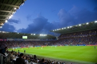 CARDIFF, WALES - Tuesday, August 12, 2014: A general view of the Cardiff City Stadium as Real Madrid take on Sevilla during the UEFA Super Cup. (Pic by David Rawcliffe/Propaganda)
