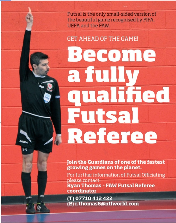 FAW Futsal Referee poster 2015